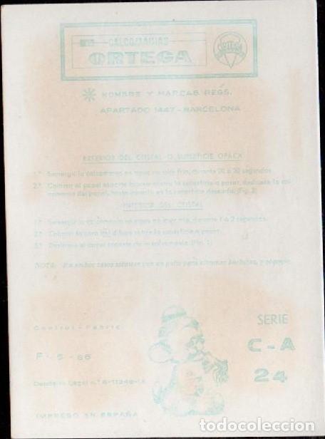 Pegatinas de colección: C17-2- 24 Control F-9-66 Calcomanias ORTEGA Automoviles ANTIGUOS Serie C - A Nº 24. - Foto 2 - 173615155
