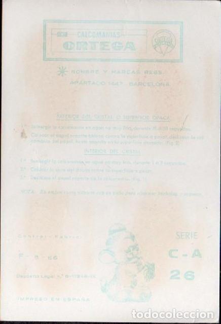 Pegatinas de colección: C17-2- 26 Control F-9-66 Calcomanias ORTEGA Automoviles ANTIGUOS Serie C - A Nº 26. - Foto 2 - 173615263