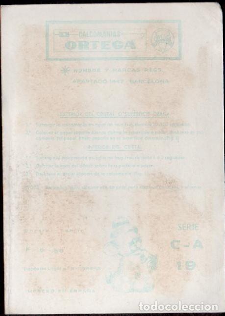 Pegatinas de colección: C17-2-19 Control F-9-66 Calcomanias ORTEGA Automoviles ANTIGUOS Serie C - A Nº 19. - Foto 2 - 173615577