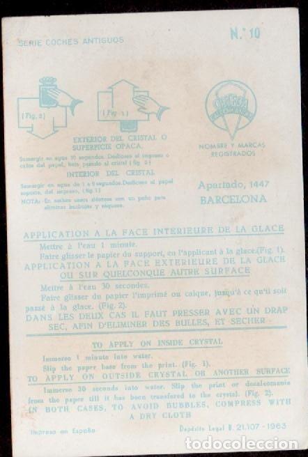 Pegatinas de colección: C17-3-10 Calcomanias ORTEGA Serie COCHES ANTIGUOS nº 10. - Foto 2 - 173615852