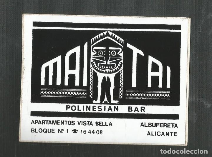 PEGATINA PUBLICITARIA MAIOTAI - POLINESIAN BAR - ALBUFERETA - ALICANTE (Coleccionismos - Pegatinas)