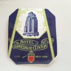 Pegatinas de colección: PEGATINA . HOTEL GOVERNOR CLINTON. CITY OF NEW YORK.TDKP14. Lote 173702703