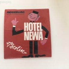 Pegatinas de colección: PEGATINA . HOTEL NEWA. BERLIN.TDKP14. Lote 173702717