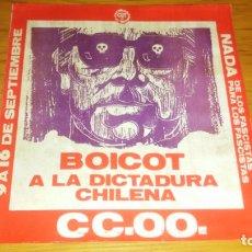 Autocolantes de coleção: PEGATINA POLITICA TRANSICION SINDICAL CCOO COMISIONES CHILE BOICOT DICTADURA CHILENA. Lote 174313235