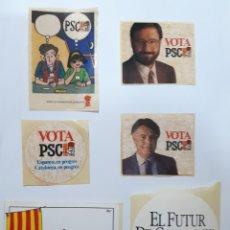 Pegatinas de colección: LOTE 6 PEGATINAS POLITICAS DEL PSC AÑOS 80 (NUNCA ENGANCHADAS). Lote 174391439