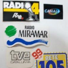 Pegatinas de colección: LOTE 6 PEGATINAS DE RADIO Y TV, AÑOS 80 (NUNCA ENGANCHADAS). Lote 174393424