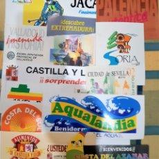 Pegatinas de colección: LOTE 12 PEGATINAS PROMOCION CIUDADES ESPAÑOLAS, AÑOS 80. (NUNCA ENGANCHADAS). Lote 174589035