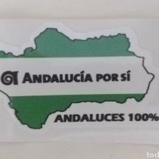 Pegatinas de colección: PEGATINA PARTIDO POLÍTICO. ANDALUCIA POR SI. AXSI. ANDALUCES 100%. Lote 195246076