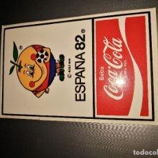 Pegatinas de colección: PEGATINA NARANJITO & COCA-COLA, MUNDIAL ESPAÑA 1982. Lote 175236298