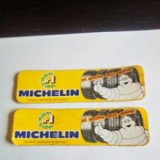 Pegatinas de colección: PAREJA DE PEGATINAS MICHELIN BIBENDUM. Lote 176167905