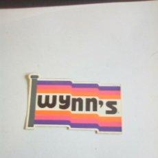 Pegatinas de colección: VINTAGE PEGATINA WYNN'S. Lote 176168249
