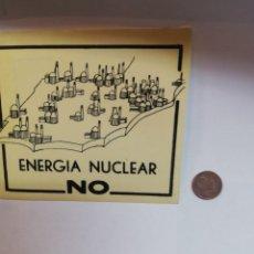Pegatinas de colección: PEGATINA ENERGIA NUCLEAR NO. Lote 177406503