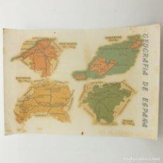 Pegatinas de colección: CALCOMANÍAS ORTEGA - SERIE PEDAGÓGICAS, GEOGRAFÍA DE ESPAÑA. Lote 177705834
