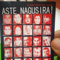 Pegatinas de colección: PEGATINA POLÍTICA ASTE NAGUSIRA AITE. Lote 177716217