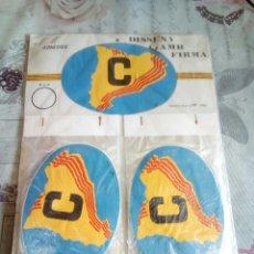 Pegatinas de colección: BLISTER CON PEGATINAS C DE CATALUÑA AÑO 1985. Lote 177890649