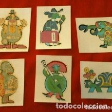Pegatinas de colección: LOTE 6 ANTIGUA CALCOMANIAS OBSEQUIO CAÑAMAS - TAMAÑO 3,5 X 4,5 CM - CALCOMANIA. Lote 178069339
