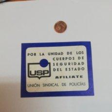 Pegatinas de colección: PEGATINA. POLITICA. UNIÓN SINDICAL DE POLICÍAS . Lote 178122144