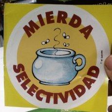Pegatinas de colección: PEGATINA MIERDA SELECTIVIDAD - EL JUEVES. Lote 178225507
