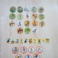 Pegatinas de colección: LOTE 36 CROMOS HELIOS - PICOS DE FRUTAS. AÑOS 70 / 80. Lote 178444468
