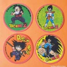 Pegatinas de colección: DRAGON BALL Z - 4 PEGATINAS O PARCHES DE TELA - 1989. Lote 178563321