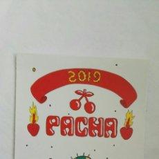 Pegatinas de colección: DISCOTECA PACHA IBIZA TIRA DE PEGATINAS. Lote 178994156