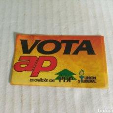 Pegatinas de colección: VOTA AP. Lote 179062166