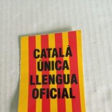 Pegatinas de colección: CATALA ÚNICA LLENGA. Lote 179063027
