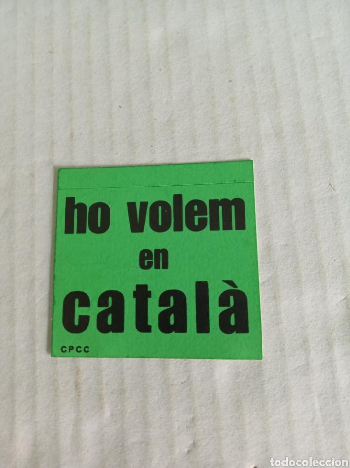 HO VOLEM EN CATALA (Coleccionismos - Pegatinas)