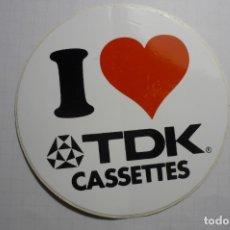 Pegatinas de colección: PEGATINA TDK CASSETTES CM. Lote 179067460