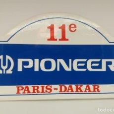 Pegatinas de colección: PEGATINA 11 EDICIÓN RALLY PARIS DAKAR AÑO 1989, RALLYE, PIONEER, ARI VATANEN, GILLES LALAY. Lote 220992653
