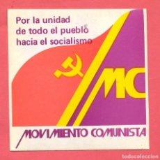 Pegatinas de colección: PEGATINA POLITICA MC EPOCA TRANSICION, VER FOTOS. Lote 179534935