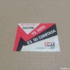 Pegatinas de colección: CNT. Lote 180206226
