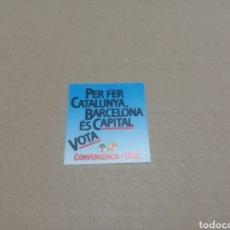Pegatinas de colección: VOTA CONVERGENCIA I UNIÓ. Lote 180207235