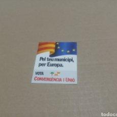Pegatinas de colección: CONVERGENCIA I UNIÓ. Lote 180207272