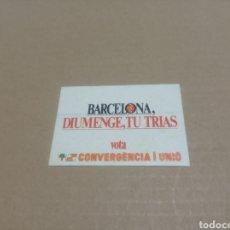 Pegatinas de colección: CONVERGENCIA I UNIÓ. Lote 180207305
