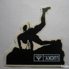 Pegatinas de colección: PEGATINA LUCKY ALPINISMO. Lote 180273790