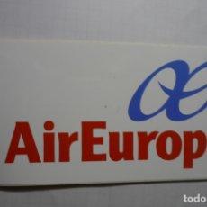 Pegatinas de colección: PEGATINA AVIACION AIR EUROPA. Lote 180273866