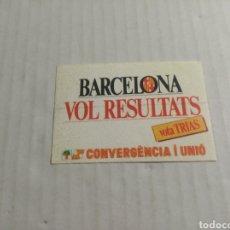 Pegatinas de colección: CONVERGENCIA I UNIÓ. Lote 180276007