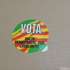 Pegatinas de colección: VOTA PACTE DEMOCRATIT PER CATALUNYA. Lote 180276718