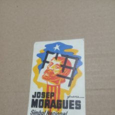 Pegatinas de colección: JOSEP MORAGUES. Lote 180278287