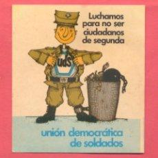 Pegatinas de colección: PEGATINA POLITICA UDS EPOCA TRANSICION , VER FOTOS. Lote 180386138