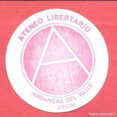 Pegatinas de colección: PEGATINA POLITICA ATENEO LIBERTARIO AUDANZAS DEL VALLE (LEON) EPOCA TRANSICION , VER FOTOS. Lote 180392037