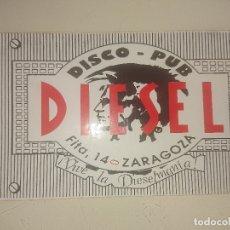 Pegatinas de colección: PEGATINA DISCO PUB DIESEL , LEER DESCRIPCION. Lote 180513600