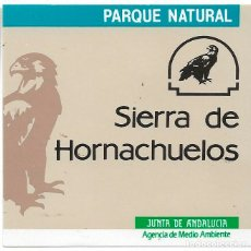 Pegatinas de colección: PARQUE NATURAL SIERRA DE HORNACHUELOS,1989. Lote 181208403