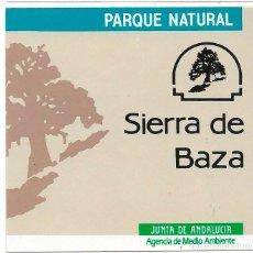 Pegatinas de colección: PARQUE NATURAL SIERRA DE BAZA,1989. Lote 181208623