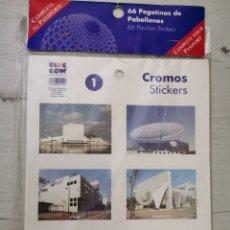 Pegatinas de colección: 66 PEGATINAS DE PABELLONES EXPO 92. Lote 181347358