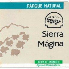 Pegatinas de colección: PARQUE NATURAL SIERRA MÁGINA, AÑOS 90. Lote 181510940