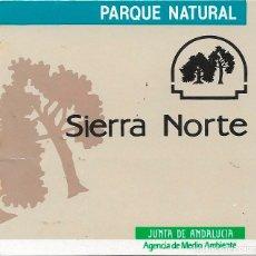 Pegatinas de colección: PARQUE NATURAL SIERRA NORTE, AÑOS 90. Lote 181511198