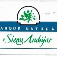 Pegatinas de colección: PARQUE NATURAL SIERRA DE ANDÚJAR, AÑOS 90. Lote 181511937