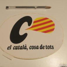Pegatinas de colección: EL CATALA COSA DE TOTS. Lote 181529218